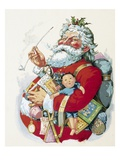Merry Old Santa Claus Premium Giclee Print by Thomas Nast