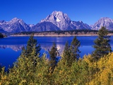 Mount Moran and Jackson Lake Photographic Print by Robert Glusic