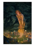 Midsummer Eve Reproduction proc&#233;d&#233; gicl&#233;e par Edward Robert Hughes