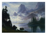 Mountain Out of the Mist Giclee Print by Albert Bierstadt