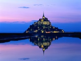 Mont-St.-Michel at Twilight Photographic Print by Mark Karrass