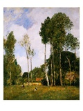 Oiseme Landscape Near Chartres Giclee Print by Eugène Boudin