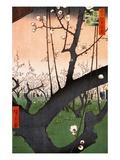 Plum Estate, Kameido (Kameido Umeyashiki) Giclée-Druck von Ando Hiroshige