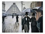 Sateinen päivä Pariisissa Giclée-vedos tekijänä Gustave Caillebotte