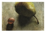 Pear and a Grape Giclee Print by Robert McIntosh