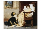 Old Playfellows Giclee Print by Briton Riviere