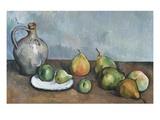Jarro y frutas Lámina giclée por Paul Cézanne