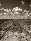 Old Railroad Tracks Lámina fotográfica por Horowitz, Aaron