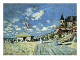 On the Boardwalk at Trouville Giclee Print by Claude Monet