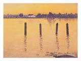 Voiliers sur L'Escault Giclee-trykk av Theo van Rysselberghe