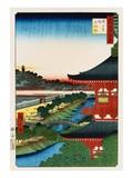 Pagoda of Zojoji, Akabane Giclee Print by Ando Hiroshige