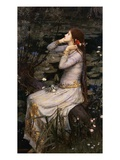 Ophélie Reproduction procédé giclée par John William Waterhouse