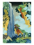 Ono Waterfall Along the Kisokaido, from the Series A Journey to the Waterfalls of All the Provinces Giclee Print by Katsushika Hokusai