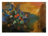 Ophelia Among the Flowers Giclee Print by Odilon Redon