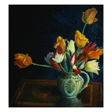 Painting of Tulips in a Staffordshire Jug by Dora Carrington Giclee Print
