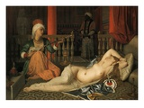 Odalisque with a Slave Premium Giclee Print by Jean-Auguste-Dominique Ingres