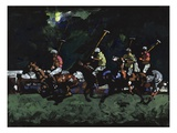 Polo en Will Rogers Park (n. 3) Lmina gicle por Robert McIntosh
