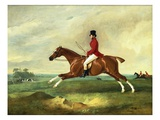 "Portrait of George Payne of Sulby on His Chestnut Hunter, ""The Clipper"" with the Pytchley at Full C Lámina giclée por Ferneley, John"