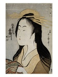 Portrait of Kisegawa of the Matsubaya Giclee Print by  Utamaro