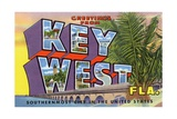 Postcard with Greetings from Key West Giclee Print