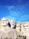 Preámbulo a la Constitución de EE.UU. sobre el monte Rushmore Lámina fotográfica por Joseph Sohm