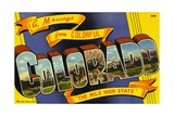 Postcard of Colorado Giclee Print