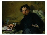 Portrait of Stephane Mallarme Giclee Print by Édouard Manet