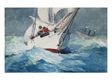 Reefing Sails Around Diamond Shoals, Cape Hatteras Giclee Print by Winslow Homer