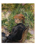 Red-Headed Woman Sitting in the Garden of Mr. Forest Giclee Print by Henri de Toulouse-Lautrec