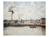 Quay at Saint-Sever, Rouen Giclee Print by Camille Pissaro