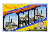 Postcard of Greetings from Ohio Giclee Print by  Lake County Museum