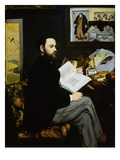 Portrait of Emile Zola Giclee Print by Edouard Manet