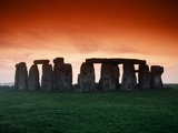 Red Sky over Stonehenge Photographic Print by Roger Ressmeyer
