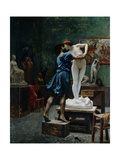 Pygmalion and Galatea Giclee Print by Jean-Leon Gerome