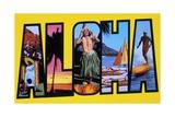 Postcard of Aloha Greetings Giclee Print