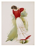 Poster Depicting a Woman Playing Golf by Maud Stumm Giclee Print