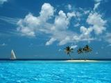 Segelfahrt auf dem blauen Meer Fotografie-Druck von Bill Ross