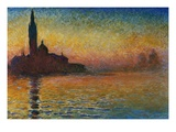San Giorgio Maggiore at Twilight Reproduction procédé giclée par Claude Monet