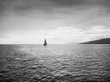 Sailboat in the Strait of Juan De Fuca Photographic Print by Ray Krantz