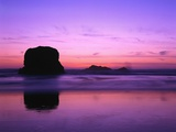 Rock Silhouetted at Twilight Photographic Print by Robert Glusic