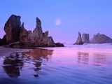 Sea Stacks and Beach Photographie par Cindy Kassab