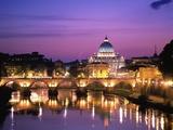 Sant'Angelo Bridge over Tiber River Stampa fotografica di Degnan, Dennis