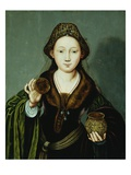 Saint Mary Magdalene Holding an Ointment Jar Giclee Print by  Master of the Mansi Magdalene