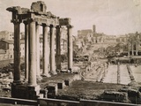 Ruined Temple of Saturn Photographic Print