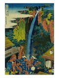Roben Waterfall of Oyama in Sagami Province, from the Series A Journey to the Waterfalls of All the Giclee Print by Hokusai