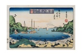 Returning Ships, Kanazawa from the Series Eight Views of Famous Places Giclee Print by Toyokuni II