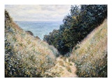 Road at La Cavee, Pourville Premium Giclee Print by Claude Monet