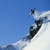 Snowboarder Performing Jump Photographic Print by Doug Berry