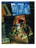 Still Life Before an Open Window, Place Ravignan Giclee Print by Juan Gris