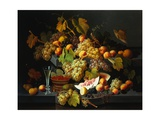 Still Life with Fruit and a Glass of Champagne Giclee Print by Severin Roesen